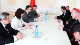 Во время встречи Натальи Кочановой с Кристофом Шенборном. Фото Совета Министров Республики Беларусь