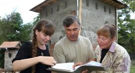 Дочь Оксана, Сергей Бондаренко, супруга Марина