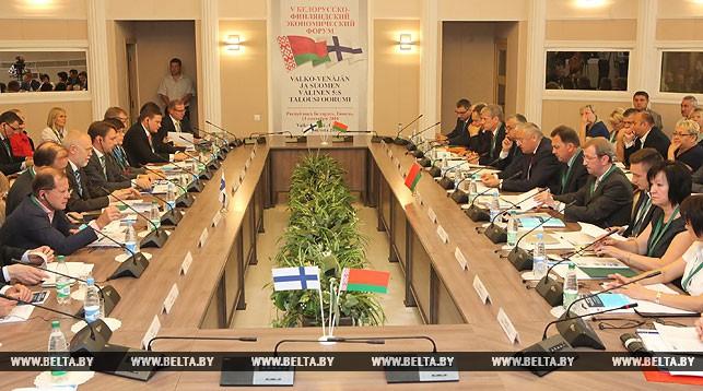 Во время белорусско-финляндского форума