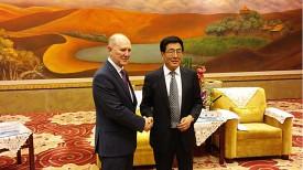 Владимир Кравцов и губернатор провинции Ганьсу Линь До
