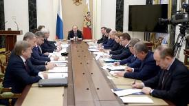 Владимир Путин проводит совещание по вопросам приватизации. Фото сайта Президента России