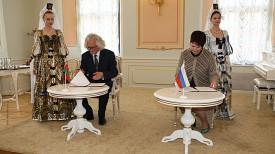Подписание соглашения между Национальным художественным музеем Республики Беларусь и Брянским обласным художественным музеем