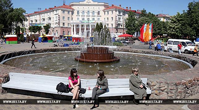 На улицах Полоцка. Фото из архива