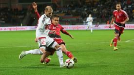 Тимофей Калачев в матче Беларусь - Люксембург