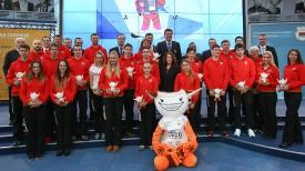 Во время проводов белорусской спортивной делегации на вторые зимние юношеские Олимпийские играы в Лиллехаммере