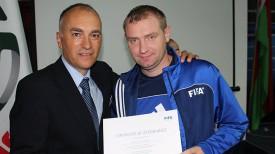 Андрей Толмач (справа). Фото Белорусской федерации мини-футбола