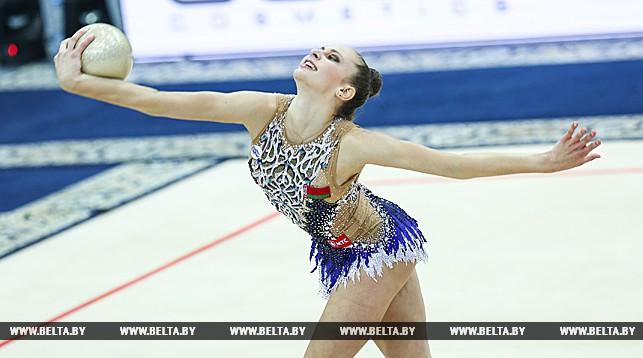 Выступает белорусская гимнастка Анна Башко
