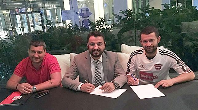 """Сергей Кисляк (справа). Фото официального сайта """"Газиантепспора"""""""