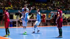 Во время матча Аргентина - Португалия