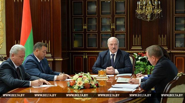 Валерий Колесник, Андрей Худык, Александр Лукашенко, Владимир Макей