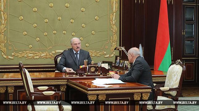 Александр Лукашенко и Леонид Анфимов