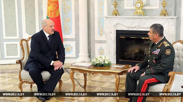 Александр Лукашенко и Закир Гасанов