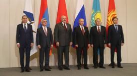 Во время церемонии совместного фотографирования глав делегаций