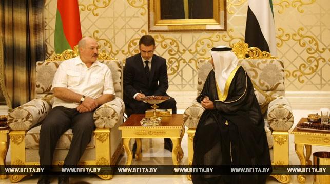 Александр Лукашенко во время рабочего визита в ОАЭ