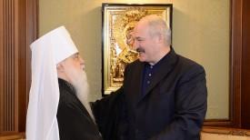 Митрополит Филарет и Александр Лукашенко. Фото из архива