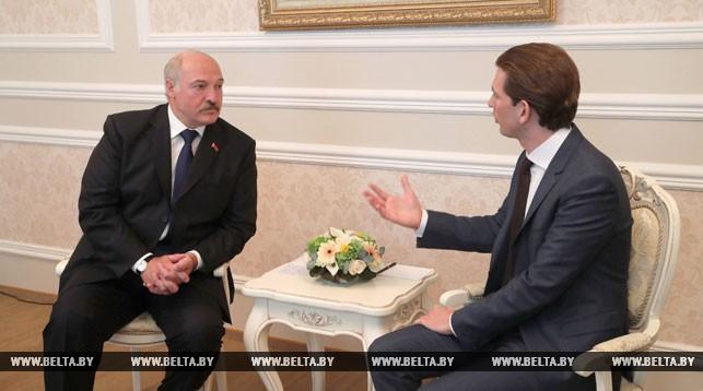Александр Лукашенко и Себастьян Курц. Фото из архива