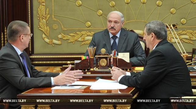 Александр Лукашенко, Михаил Русый и Леонид Заяц