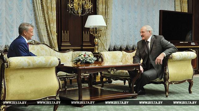 Герман Греф и Александр Лукашенко