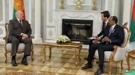 Александр Лукашенко и Мишель Сидибе