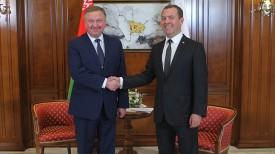 Андрей Кобяков и Дмитрий Медведев