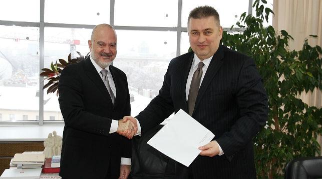 Тончи Станичич и Олег Кравченко. Фото МИД Беларуси