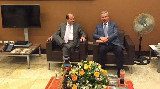 Карлос Бергманн и Владимир Андрейченко. Фото пресс-службы парламента