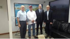 Олег Паферов, Хуан Ариас, Виталий Вовк, Александр Захарченко. Фото Посольства Республики Беларусь в Венесуэле