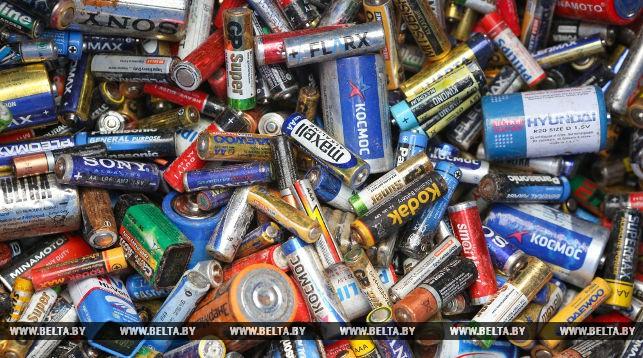 В Беларуси началась переработка использованных батареек