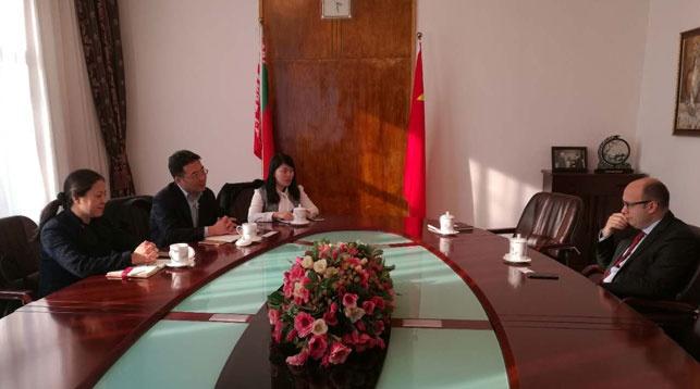 Во время встречи. Фото посольства РБ в КНР