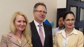 Во время встречи. Фото посольства Беларуси в Эквадоре