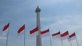 Национальный памятник Монас в Джакарте, Индонезия