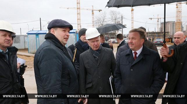 Андрей Кобяков ознакомился со строительством Центра олимпийской подготовки по художественной гимнастике