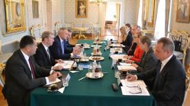 Во время встречи. Фото посольства Беларуси в Финляндии