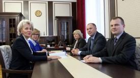 Во время встречи. Фото Следственного комитета Беларуси