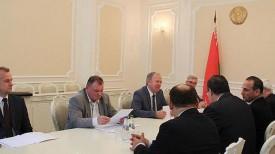 Во время встречи. Фото Совета Министров Республики Беларусь