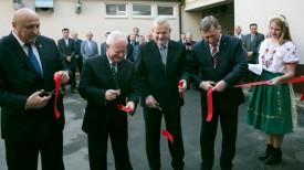 Олег Величко, Йозеф Мигаш, Михаил Козич и Александр Рогачук во время торжественного открытия консульства