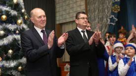 Председатель Гродненского облисполкома Владимир Кравцов и глава администрации Ленинского района Гродно Иван Курман