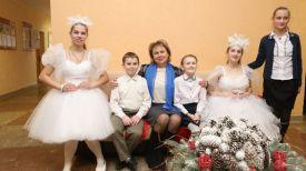 Марианна Щеткина и воспитанники школы-интерната