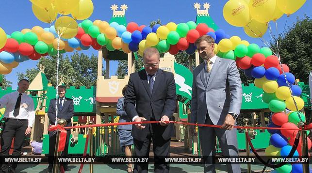 Во время церемонии открытия детского городка