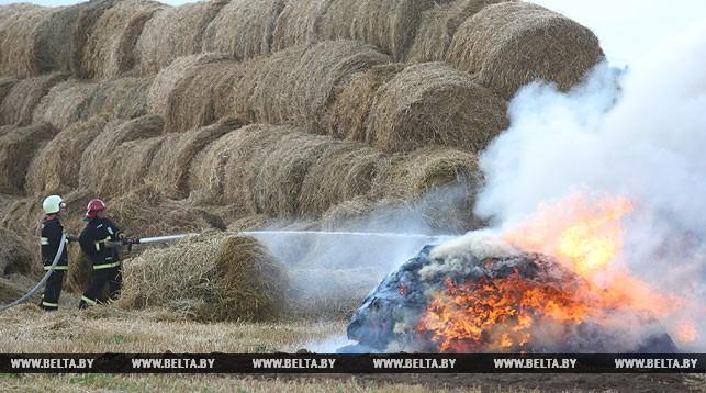 Около 190 т соломы сгорело в сельхозпредприятии Столинского района