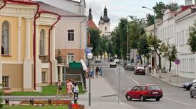 На улицах Пинска. Фото из архива
