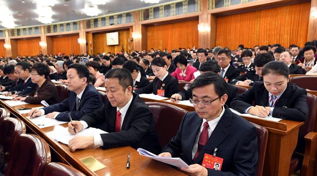 На 19-м съезде Коммунистической партии Китая. Фото Синьхуа - БЕЛТА