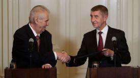 Милош Земан и Андрей Бабиш. Фото Reuters