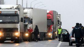 Досмотр транспортных средств на белорусско-российской границе. Фото ТАСС