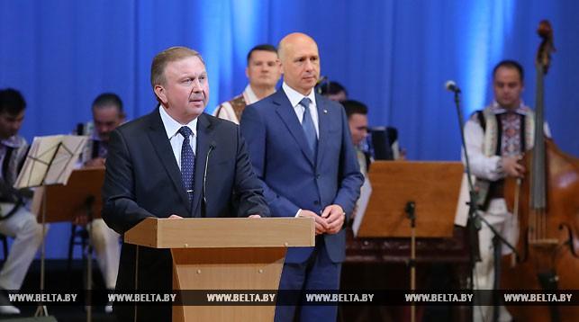 Во время церемонии открытия Дней культуры Молдовы в Беларуси