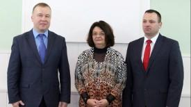 Александр Шамко, Наталия Родригез и Александр Гагиев. Фото Министерства спорта и туризма