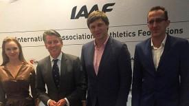 Вадим Девятовский (в центре) на заседании в Монако. Фото БФЛА