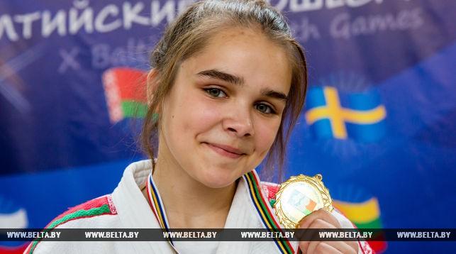 Яна Макрецкая (Беларусь) награждена золотой медалью по дзюдо в весовой категории 48 кг