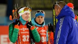 Дарья Домрачева после спринтерской гонки в Контиолахти. Фото Биатлон online