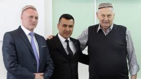 Михаил Портной, Максат Насыров и Александр Медведь. Фото Министерства спорта и туризма